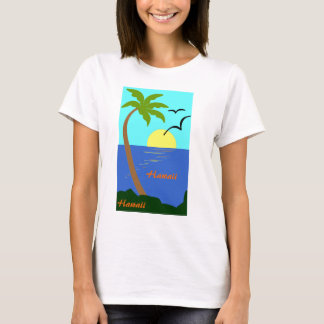 Hawaiian Palm Tree Oecean Sunset T-Shirt