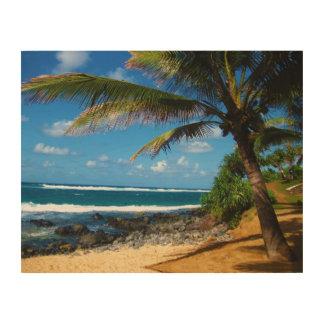 Hawaiian Palm Tree Wooden Canvas Wood Prints