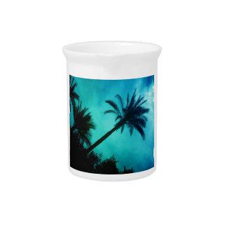 Hawaiian Palm Trees Beverage Pitchers