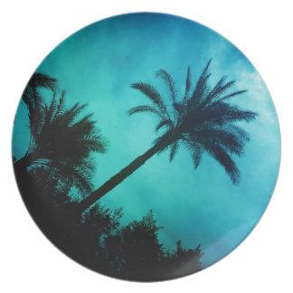 Hawaiian Palm Trees Party Plates