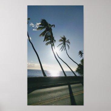 Hawaiian Themed Hawaiian Palm Trees Poster
