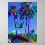 Hawaiian Palm Trees Poster