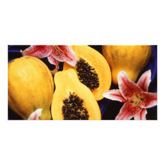 Hawaiian papayas card