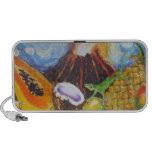 Hawaiian Paradise Fruits & Volcano Doodle Speakers