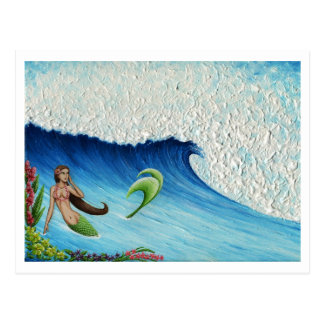 Hawaiian Paradise Mermaid Postcard