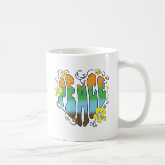 Hawaiian Peace Heart Coffee Mugs