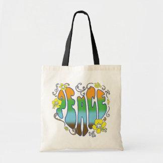 Hawaiian Peace Heart Tote Bags