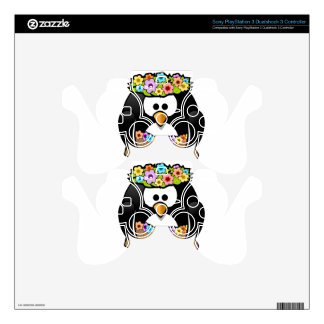Hawaiian Penguin With flowers and grass skirt Decal For PS3 Controller