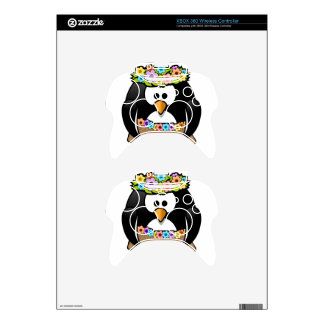 Hawaiian Penguin With flowers and grass skirt Xbox 360 Controller Decal