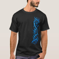 Hawaiian Petroglyph Canoe Paddler Tribal T shirt