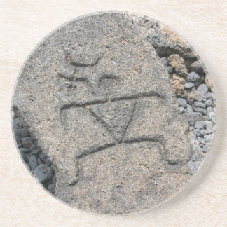 Hawaiian Petroglyph Coaster