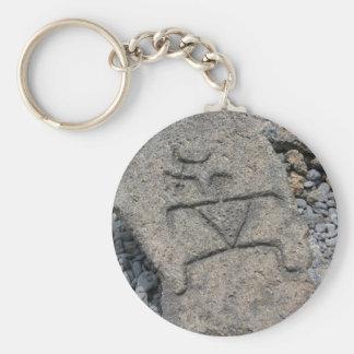 Hawaiian Petroglyph - Keychain
