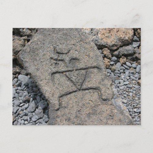 Hawaiian Petroglyph - Postcard postcard