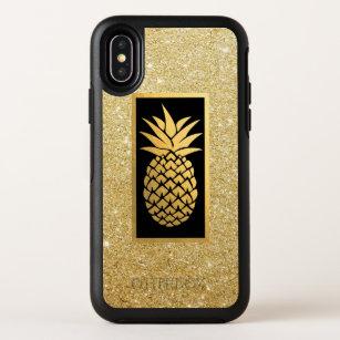 c37f0cc8 Hawaiian Pineapple Modern Gold Glitter OtterBox Symmetry iPhone X Case