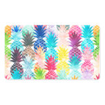 Hawaiian Pineapple Pattern Tropical Watercolor Double-Sided Standard Business Cards (Pack Of 100)
