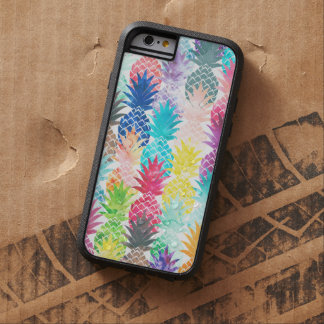 Hawaiian Pineapple Pattern Tropical Watercolor Tough Xtreme iPhone 6 Case