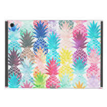 Hawaiian Pineapple Pattern Tropical Watercolor Cases For iPad Mini