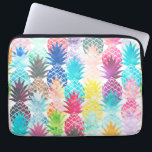 "Hawaiian Pineapple Pattern Tropical Watercolor Computer Sleeve<br><div class=""desc"">Whimsical Watercolor pineapple pattern,  modern trendy,  abstract multicolor pineapples fruit design featuring bright and colorful Hawaiian pineapple with artistic and abstract pastel tropical pink,  yellow,  blue,  red colors on a white background. Celebrate summer with this fresh and psychedelic fruit pattern</div>"
