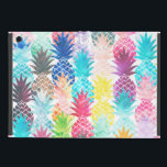 "Hawaiian Pineapple Pattern Tropical Watercolor Cover For iPad Mini<br><div class=""desc"">Whimsical Watercolor pineapple pattern,  modern trendy,  abstract multicolor pineapples fruit design featuring bright and colorful Hawaiian pineapple with artistic and abstract pastel tropical pink,  yellow,  blue,  red colors on a white background. Celebrate summer with this fresh and psychedelic fruit pattern</div>"