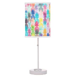 Hawaiian Pineapple Pattern Tropical Watercolor Desk Lamp