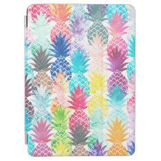 Hawaiian Pineapple Pattern Tropical Watercolor Ipad Air Cover at Zazzle