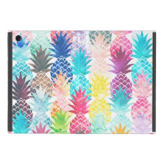 Hawaiian Pineapple Pattern Tropical Watercolor Case For iPad Mini