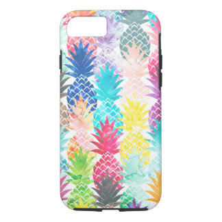 Hawaiian Pineapple Pattern Tropical Watercolor iPhone 8/7 Case