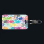 """Hawaiian Pineapple Pattern Tropical Watercolor Luggage Tag<br><div class=""""desc"""">Whimsical Watercolor pineapple pattern,  modern trendy,  abstract multicolor pineapples fruit design featuring bright and colorful Hawaiian pineapple with artistic and abstract pastel tropical pink,  yellow,  blue,  red colors on a white background. Celebrate summer with this fresh and psychedelic fruit pattern</div>"""