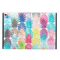 Hawaiian Pineapple Pattern Tropical Watercolor Powis iPad Air 2 Case