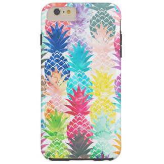Hawaiian Pineapple Pattern Tropical Watercolor Tough iPhone 6 Plus Case