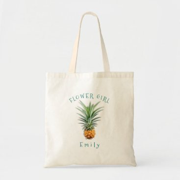 Beach Themed Hawaiian Pineapple Personalized Flower Girl Bag