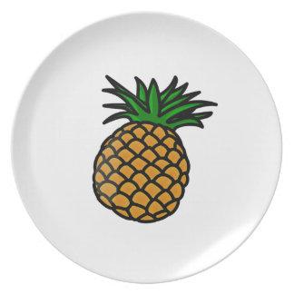 Hawaiian Pineapple Plates