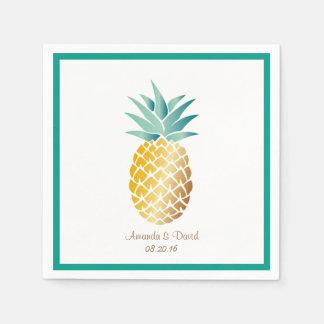 Hawaiian Pineapple Tropical Summer Wedding Napkin