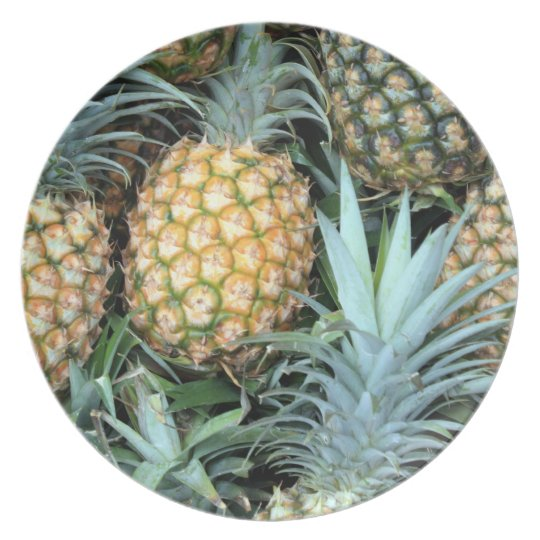 HAWAIIAN PINEAPPLES PLATE