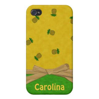 Hawaiian Pineapples Yellow and Green Custom Cases