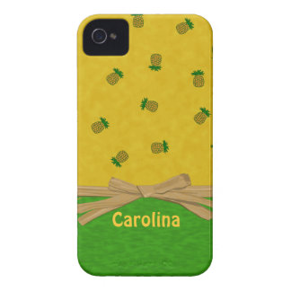Hawaiian Pineapples Yellow and Green Custom Cases Case-Mate iPhone 4 Cases