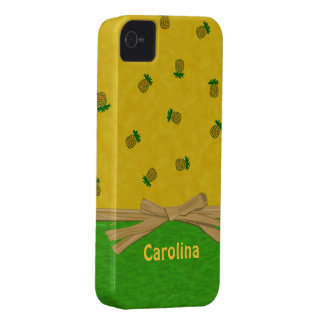 Hawaiian Pineapples Yellow and Green Custom Cases iPhone 4 Case-Mate Cases