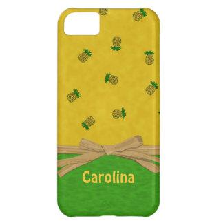Hawaiian Pineapples Yellow Green Custom iphone 5 Case For iPhone 5C