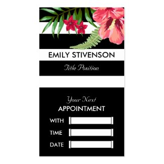Hawaiian Pink Flower Appointment Card