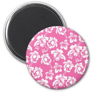 Hawaiian Pink Flower Magnet