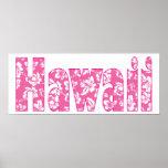 Hawaiian Pink Flower Poster