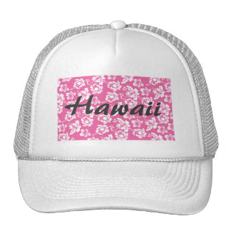 Hawaiian Pink Flower Trucker Hat