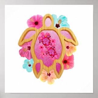 Hawaiian Pink Honu Poster