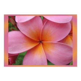 Hawaiian Pink Plumeria Tropical Flower Blank Card