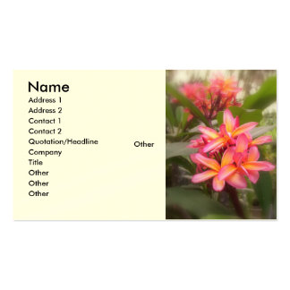 Hawaiian Plumeria Double-Sided Standard Business Cards (Pack Of 100)