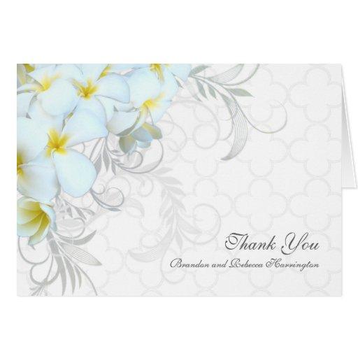 hawaiian plumeria custom wedding thank you cards zazzle