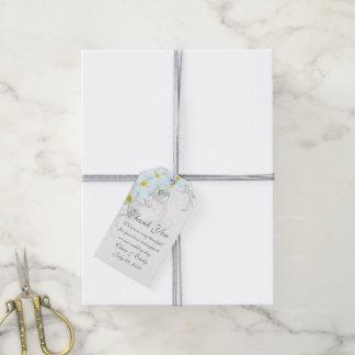 Hawaiian Plumeria Flourish Wedding Favor Tags Pack Of Gift Tags