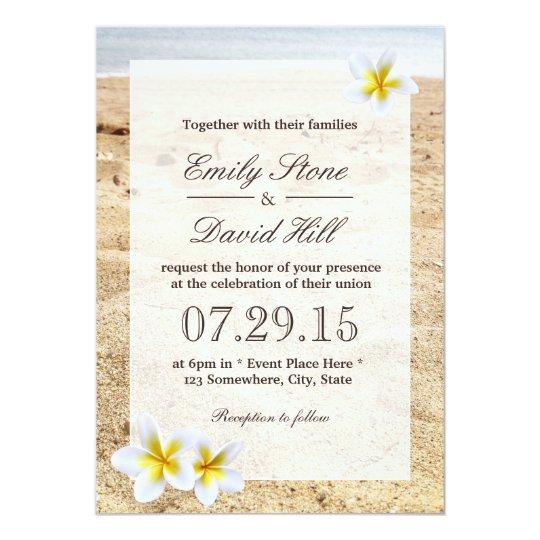 Wedding Invitations Hawaii: Tropical Palm Tree Beach Wedding Invitation