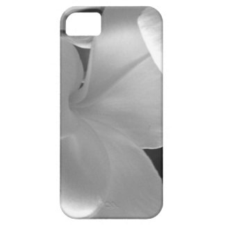 Hawaiian Plumeria Flowers in Black and White iPhone SE/5/5s Case