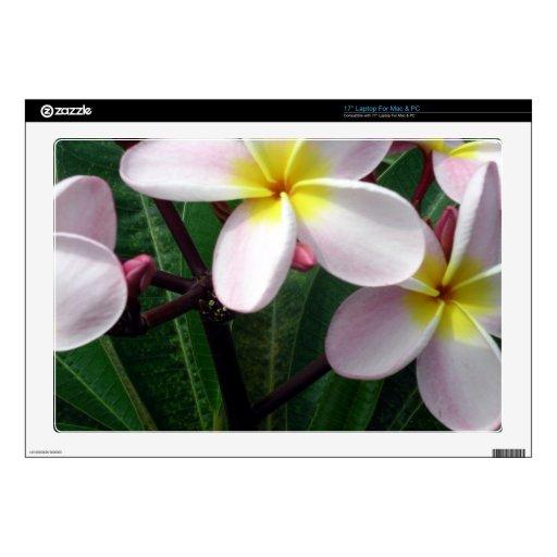 "Hawaiian Plumeria Flowers 17"" Laptop Decals"